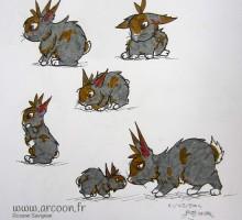 dessin de lapins