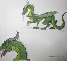 dessin de dragon et de lapin