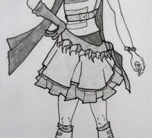 dessin d'un personnage féminin