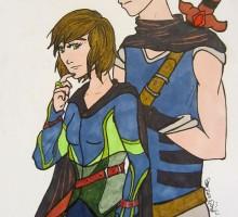dessin de personnage masculin et féminin