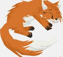 dessin de renard qui fait dodo