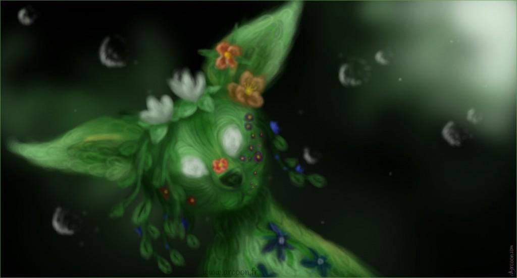 Image d'illustration de l'histoire (une biche végétale)