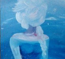 Peinture étape la reine des neiges