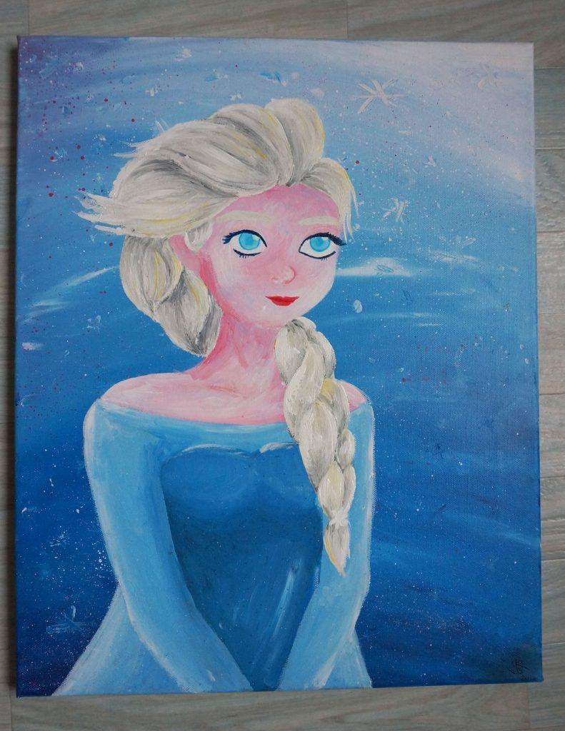 Peinture la Reine des neiges : Elsa