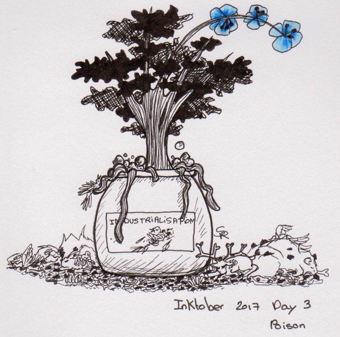 dessin d'un arbre empoisonné